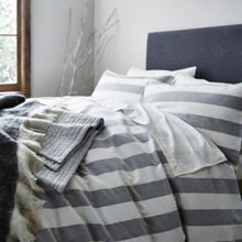 Gray & Willow Fallin Wide stripe bed linen range