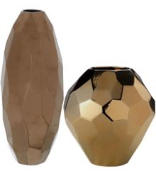 Copper Facet Vase Range