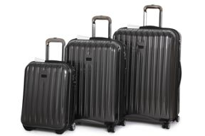 Linea Titanium II grey luggage set
