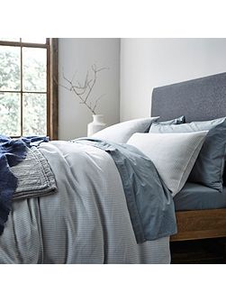 Bergen herringbone super king duvet cover