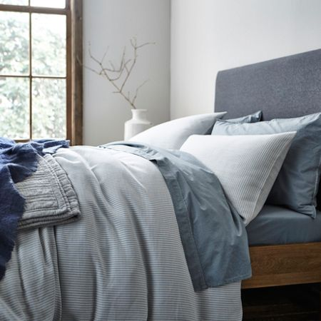 Gray & Willow Bergen herringbone stripe king duvet cover