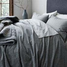 Gray & Willow Tromso stripe flannel bed linen range