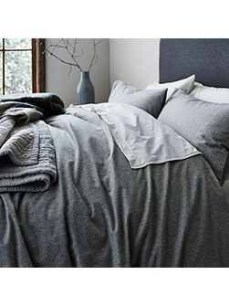 Tromso stripe flannel king duvet cover