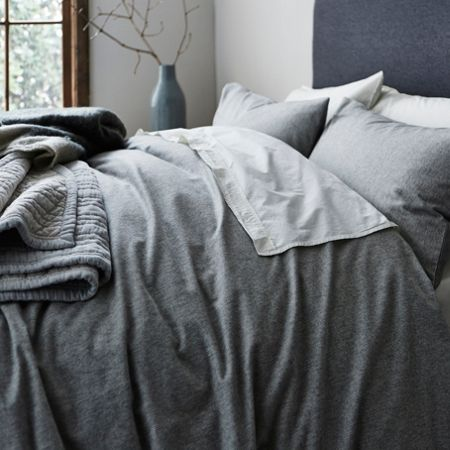 Gray & Willow Tromso stripe flannel king duvet cover