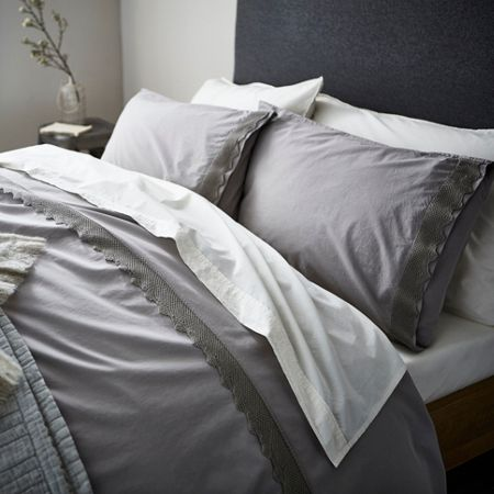 Gray & Willow Roskilde crochet king duvet cover