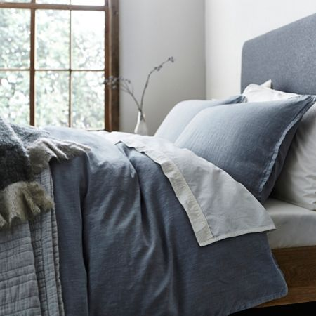 Gray & Willow Oslo slub cotton double duvet cover