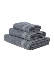 Gray & Willow Blue marl towel range
