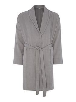 Waffle robe charcoal s/m