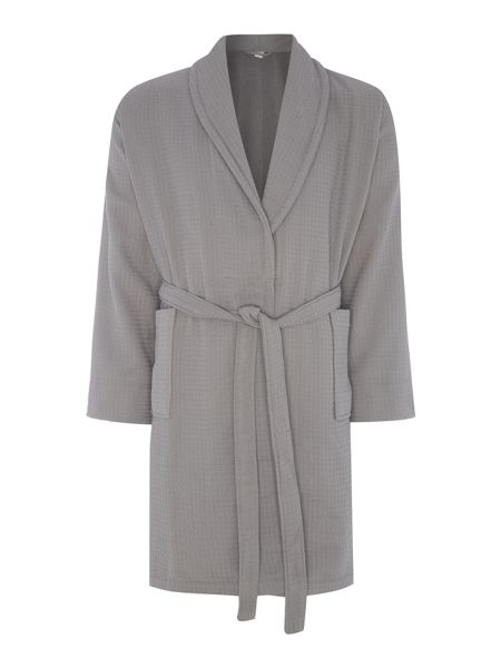 Luxury Hotel Collection Waffle robe charcoal s/m