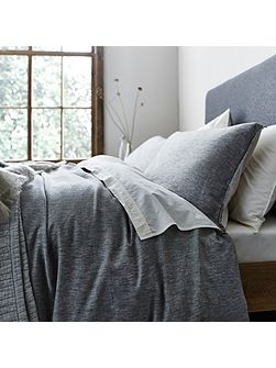 Kalmar grey twill housewife pillowcase pair