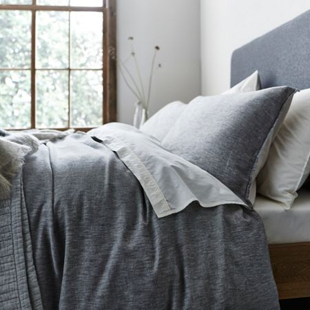 Gray & Willow Kalmar grey twill super king duvet cover