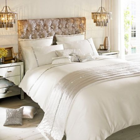 Kylie Minogue Zelina ivory king duvet cover