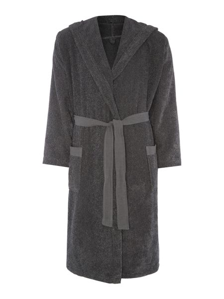 Gray & Willow Charcoal marl robe m/l