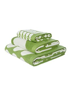 Stem Jacquard Green Bath Sheet