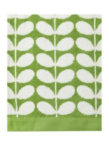 Orla Kiely Stem Jacquard bath towels in Green