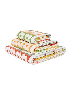 Flower Stripe Bath Towel in Multi