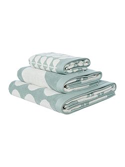 Stem Jacquard Hand Towel in Duck Egg