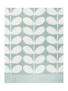 Orla Kiely Stem jacquard bath towels in duck egg
