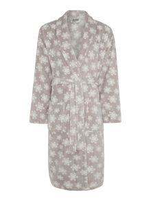 Linea Grey snowflake fleece robe range