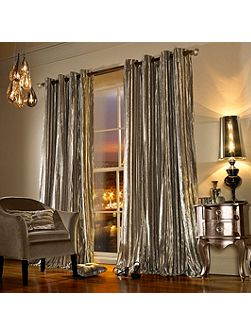 Iliana Lined Eyelet Curtain in Praline 66x90