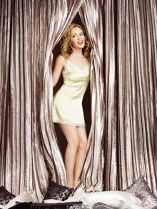 Kylie Minogue Iliana lined curtain range in Praline