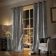 Kylie Minogue Iliana lined curtain range in Silver