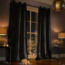 Iliana lined curtain range in Black