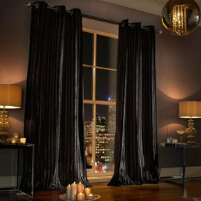 Kylie Minogue Iliana lined curtain range in Black