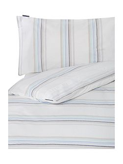 Poplin Striped Double Duvet cover set white/multi