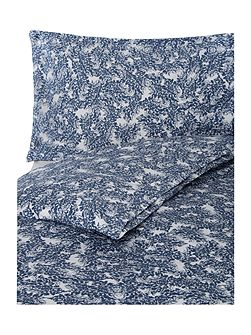 Printed Sateen King Duvet cover in Blue