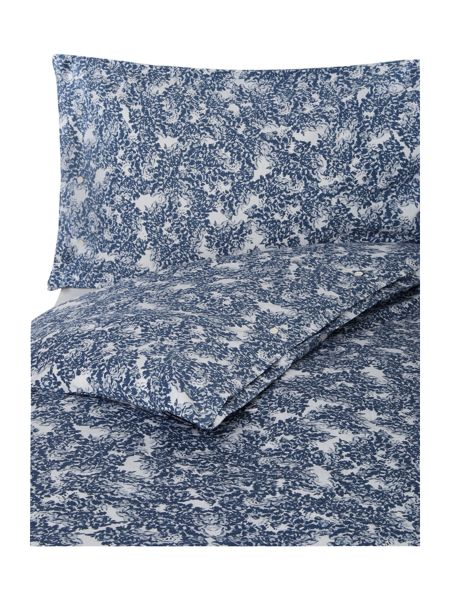 Lexington Printed Sateen King Duvet cover in Blue