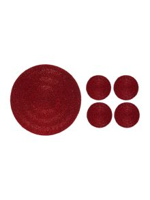 Linea Red Halo Coaster Set Of 4