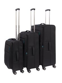 Linea Spacelite II black suitcase set