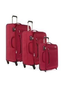 Antler Cyberlite II Red 4 wheel suitcase range