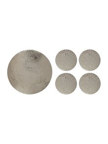 Casa Couture Beaten metal tableware range