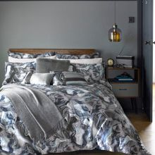 Marble bedding range in Grey