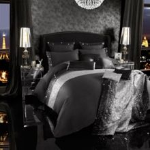 Mezzano black bed linen range
