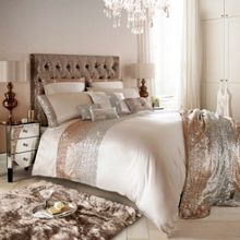 Kylie Minogue Mezzano Rose Gold Super King Duvet Cover