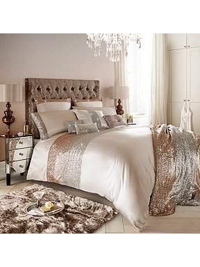 Kylie Minogue Mezzano Rose Gold Bed Linen Range House Of Fraser