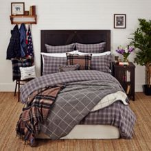 Lexington Authentic checked flannel bedding, grey