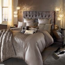 Kylie Minogue Dara bed linen range in Silver