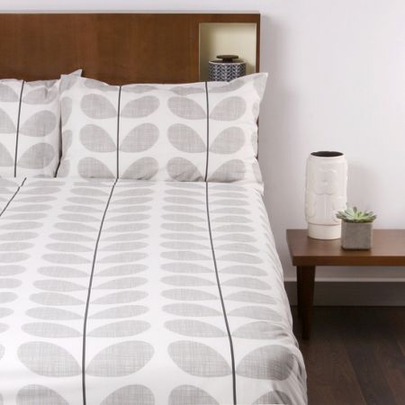 Orla Kiely Scribble Soft Concrete Pillowcase Pair
