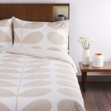 Orla Kiely Flannel giant stem clay bed linen range