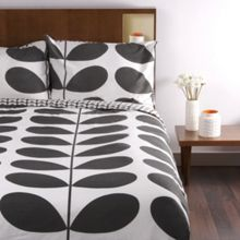 Orla Kiely Flannel giant stem granite bedding range