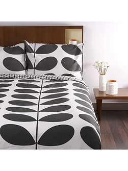 Flannel Giant Stem Granite Super King Duvet Cover