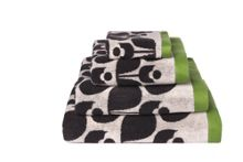 Orla Kiely Wallflowers Jacquard bath towels, Slate