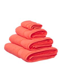 Soft feel egyptian cotton range in coral