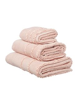 Shabby Chic Frill border hand towel pink