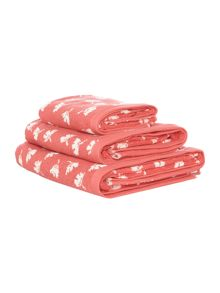 Dickins & Jones Orange dandy floral towel range