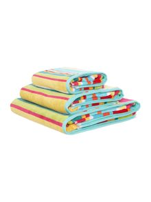 Linea Bright stripe velour towel range